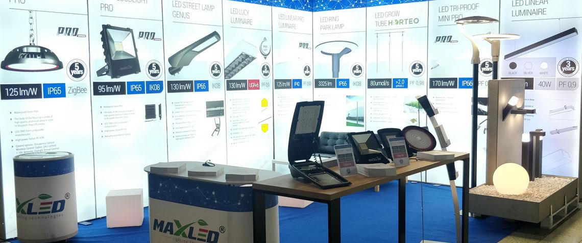 MAX-LED na 25. Międzynarodowych Targach Elektrotechniki, Energetyki, Elektroniki, Oświetlenia i Telekomunikacji ELO-SYS 2019